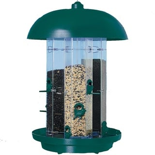 SuperFeeder Green/Clear Plastic/Aluminum Bird Feeder