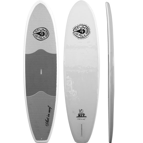 "Art in Surf Rhino 10'6"" HIT Fun for All White Stand-up Paddle Board (SUP)"