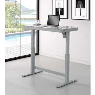 Adjustable Height Desk, White