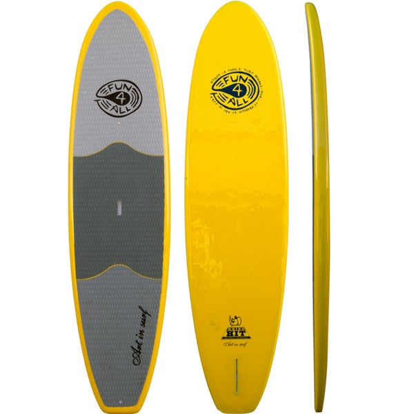 "Art in Surf Rhino 10'6"" HIT Fun for All Yellow Stand-up Paddle Board (SUP)"