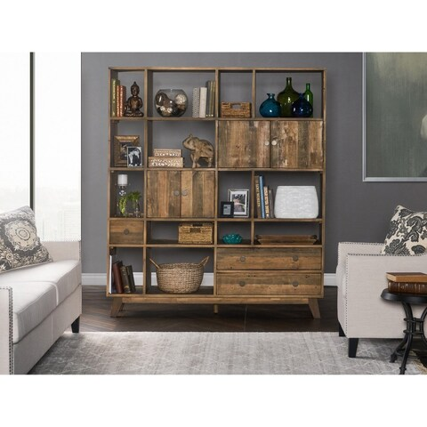Samuel Natural 63-inch Wall Unit by Kosas Home - 71hx65wx17d