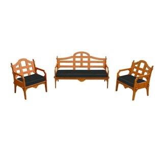 Wedgewood Furniture Palladian Lounge Set With 1 Sofa, 2 Lounge Chairs And 3 Sunbrella Cushions
