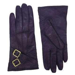 Coach Black Leather Cashmere Lined Crossing Buckle Gloves|https://ak1.ostkcdn.com/images/products/13798390/P20448131.jpg?impolicy=medium
