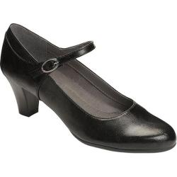 Women's A2 by Aerosoles For Shore Mary Jane Pump Black Faux Leather