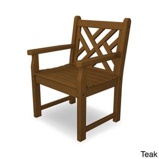 POLYWOOD® Chippendale Garden Arm Chair (Teak)
