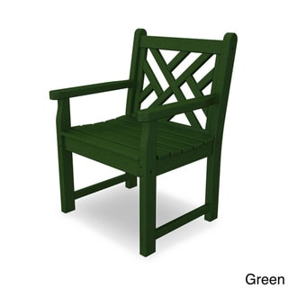 POLYWOOD® Chippendale Garden Arm Chair (Green)