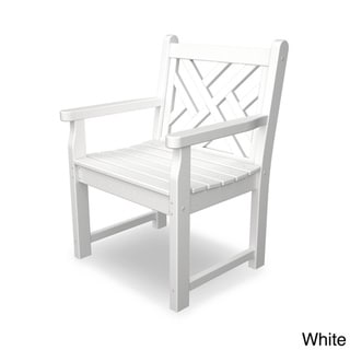 POLYWOOD® Chippendale Garden Arm Chair (White)