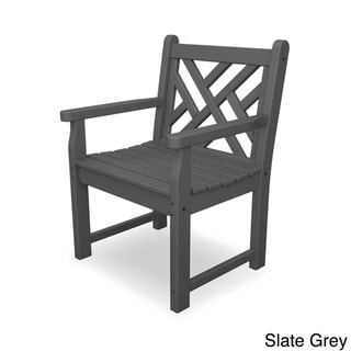 POLYWOOD® Chippendale Garden Arm Chair (Slate Grey)
