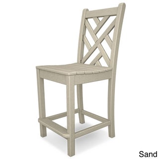 POLYWOOD Chippendale Polyethylene Counter Side Chair (Option: SAND)