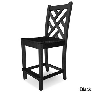POLYWOOD® Chippendale Counter Side Chair (Black)
