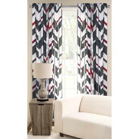 PoloGear Multicolored Polyester Microfiber Valor Window Curtain Panel