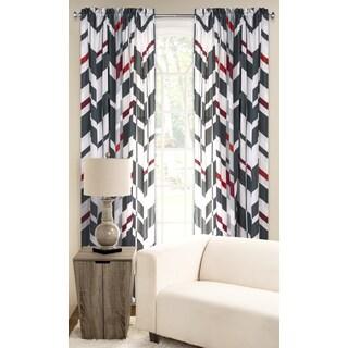 PoloGear Multicolored Polyester Microfiber Valor Window Curtain Panel