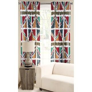 PoloGear Windsor Multicolored Polyester Microfiber Window Curtain Panel