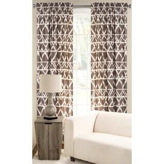 PoloGear Tan Polyester Blend Geometric Tribal Pattern Window Curtain Panel