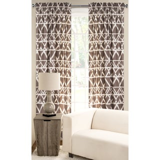 PoloGear Tan Polyester Blend Geometric Tribal Pattern Window Curtain Panel