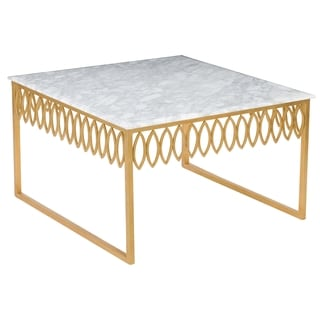 Safavieh Couture High Line Collection Natalia White Marble Cocktail Table