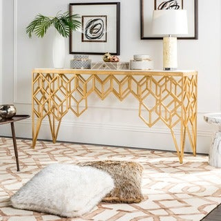Safavieh Couture High Line Collection Laurenza Marble Console Table