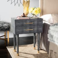 Safavieh Couture High Line Collection Nour Black Faux Stingray End Table
