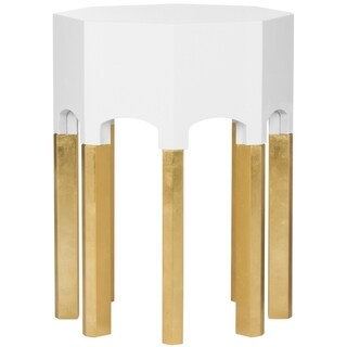 Safavieh Couture High Line Collection Dafne White Lacquer Side Table