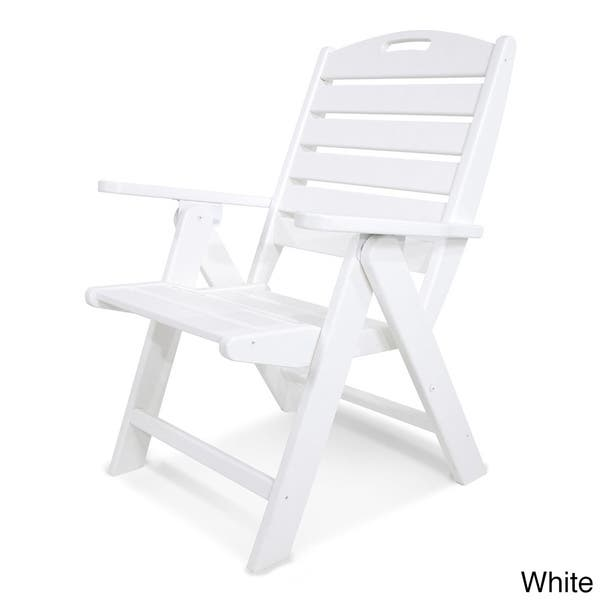 Astonishing Shop Polywood Nautical Highback Chair Free Shipping Today Onthecornerstone Fun Painted Chair Ideas Images Onthecornerstoneorg