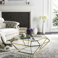 Safavieh Couture High Line Collection Abena Geometric Gold Coffee Table