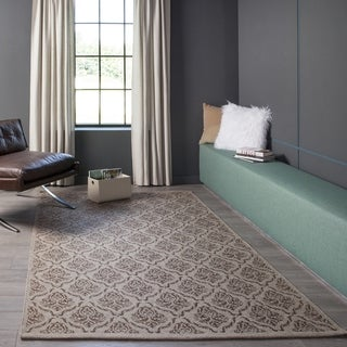Hand-Woven Lucia Rose Wool Rug (5' x 8')