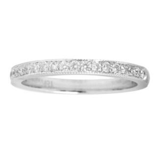 18k White Gold 1/4ct TDW White Diamond Engagement Band Ring
