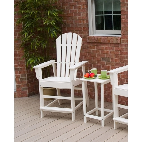 Polywood South Beach Outdoor Adirondack Counter Chair