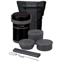 Zojirushi Classic Bento Black/Grey Lunch Set