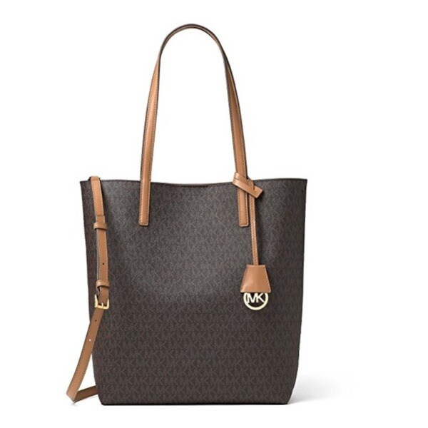 3dbe3d91c850 Shop Michael Kors Hayley Large Convertible Brown/Peanut Tote Handbag - Free  Shipping Today - Overstock.com - 13804845
