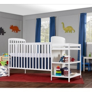 Dream On Me Anna White 4-in-1 Full-size Crib and Changing Table Combo