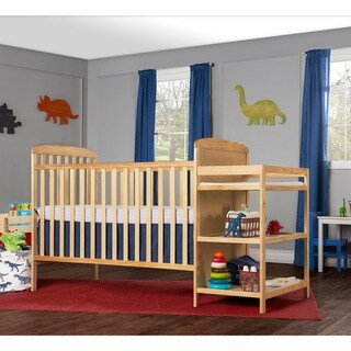 Dream On Me, Anna 4 in 1 Full Size Crib and Changing Table Combo - Natural