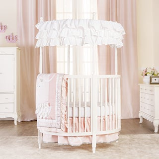 Dream on Me Sophia White Wooden Posh Circular Crib