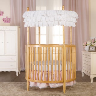 Dream On Me Sophia Natural-finished Wood Posh Circular Crib