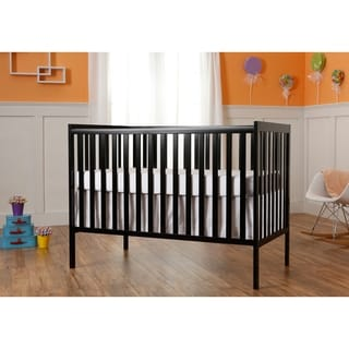 Dream On Me Synergy Black 5-in-1 Convertible Crib