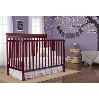 Dream On Me Alissa Cherry 4-in-1 Convertible Crib - Brown