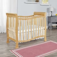 Dream on Me Piper Natural Finish Wood 4-in-1 Convertible Mini Crib