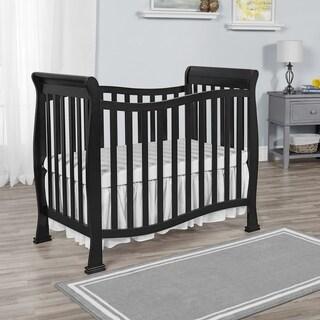 Dream on Me Piper Black Wood 4-in-1 Convertible Mini Crib