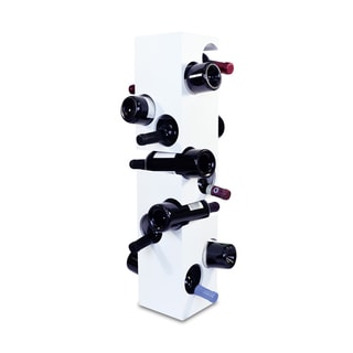 Puzzled Epic White Wood 10-bottle Countertop Wine Rack