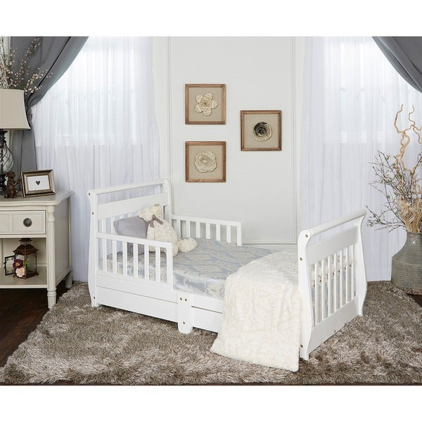 Shop Dream On Me Sleigh Toddler Bed W Storage Drawer Free
