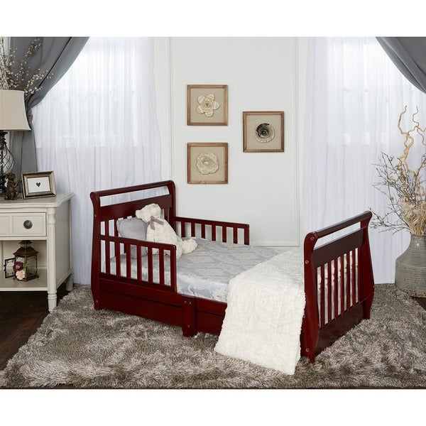 Dream On Me Sleigh Toddler Bed W Storage Drawers Free Shipping