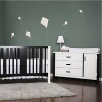 Dream On Me Cafeina White Wood 3-drawer Dresser Combo