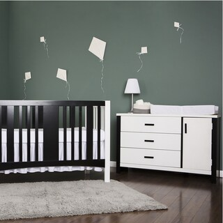 Dream On Me Cafeina White Wood 3-drawer Dresser Combo