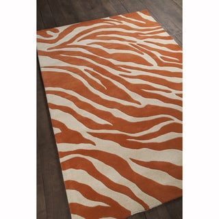 Artist's Loom Hand-Tufted Contemporary Abstract Pattern Wool Rug (8'x10') - 8'x10'