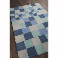 Artist's Loom Hand-Tufted Contemporary Geometric Pattern Wool Rug (8'x10')