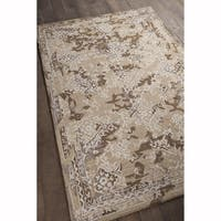 Artist's Loom Hand-tufted Rustic Floral Pattern Rug (9'x13')