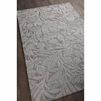 Artist's Loom Hand-tufted Transitional Floral Pattern Wool Rug (9'x13')