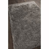 Artist's Loom Hand-woven Contemporary Abstract Pattern Shag Rug (9'x13')