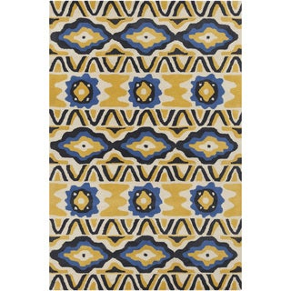 Artist's Loom Hand-Tufted Country Abstract Pattern Wool Rug (8'x10')
