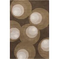Artist's Loom Hand-Tufted Contemporary Geometric Pattern Wool Rug (8'x10')